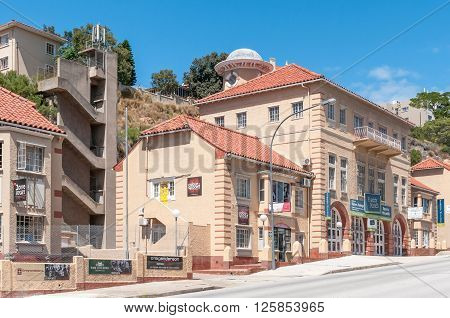 PORT ELIZABETH SOUTH AFRICA - FEBRUARY 27 2016: The old fire station in Albany Road was built in 1930 as is now used as business premises