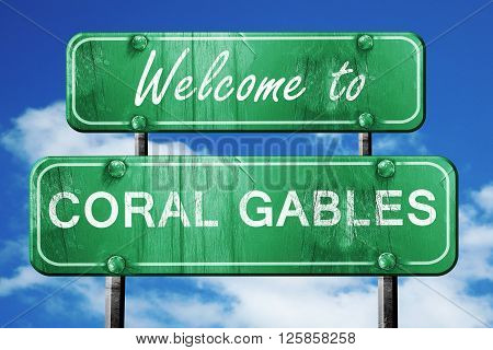 Welcome to coral gables green road sign