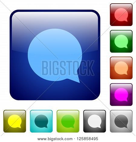 Set of color chat glass web buttons.