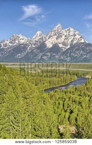 Snake River Overlook Grand Teton National Park Wyoming