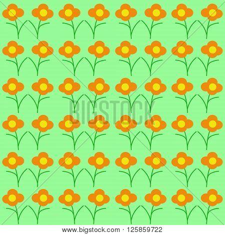 Japanese Pattern Wildflowers. Seamless Texture. Summer Meadow.