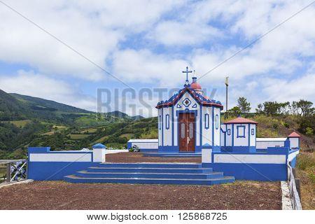 Ermida de Monte Santo, chapel above the village of Agua de Pau, Sao Miguel island, Azores