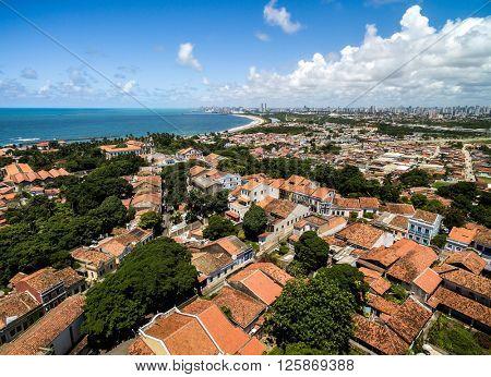 Aerial View of Olinda, Pernambuco, Brazil