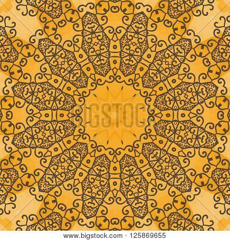 Yoga Ornament, kaleidoscopic floral pattern, mandala yantra. Seamless ornament lace.Oriental vector pattern. Islamic, Arabic, Indian, Turkish, Pakistan, Chinese, Asian, Moroccan, Ottoman motifs.