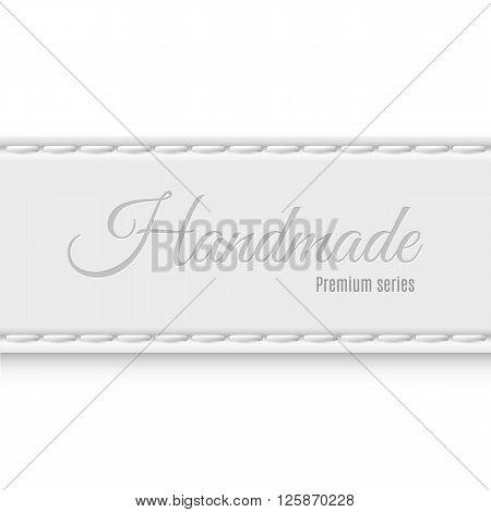 Label premium series of gray fabric handmade
