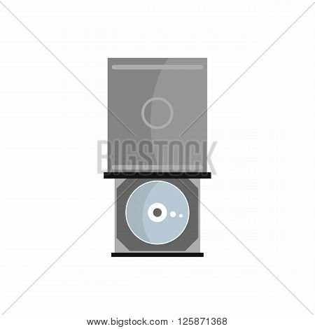 Flat dvd-rom icon for repair service design. Vector illustration