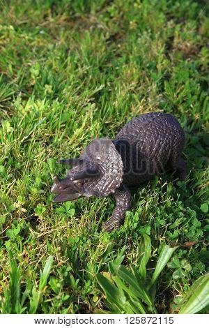 dinosaur in the grass