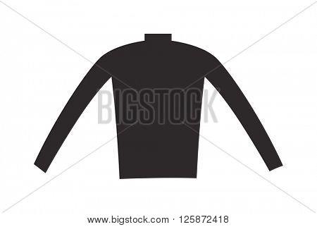 Female black blouse fashion clothing shirt design vector illustration.