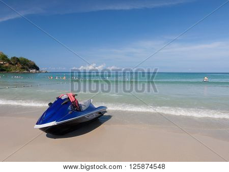 Jet Ski on the beach ,Phuket Thailand
