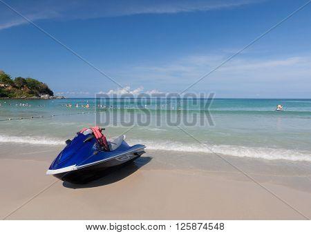 Jet Ski on the beach ,Phuket Thailand