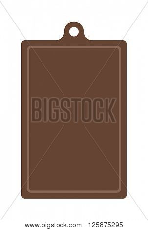 Wooden antiseptic cutting board brown texture cooking surface plank kitchen tool vector illustration.