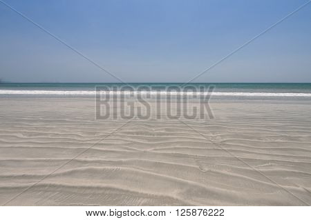 sand beach for background and texture .