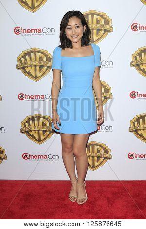 LAS VEGAS - APR 12: Karen Fukuhara at the Warner Bros. Pictures Presentation during CinemaCon at Caesars Palace on April 12, 2016 in Las Vegas, Nevada