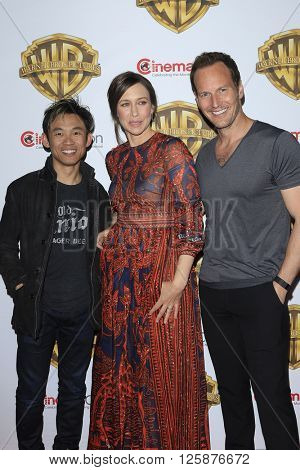 LAS VEGAS - APR 12: James Wan, Vera Farmiga, Patrick Wilson at the Warner Bros. Pictures Presentation during CinemaCon at Caesars Palace on April 12, 2016 in Las Vegas, Nevada