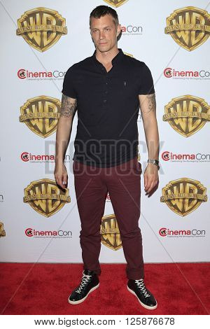 LAS VEGAS - APR 12: Joel Kinnaman at the Warner Bros. Pictures Presentation during CinemaCon at Caesars Palace on April 12, 2016 in Las Vegas, Nevada