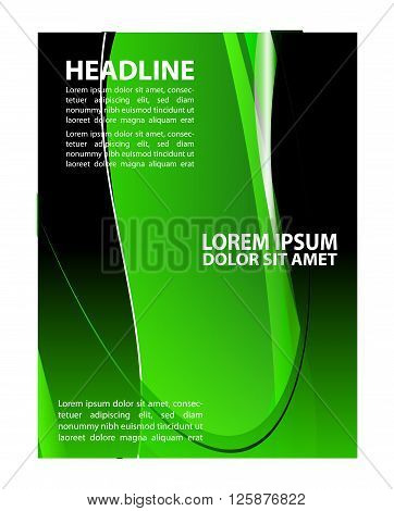 Brochure flyer background. Vector business brochure, flyer, magazine cover