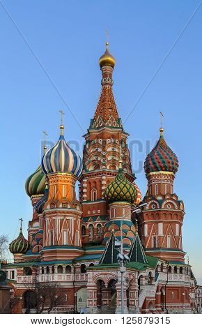 The Cathedral of Vasily the Blessed commonly known as Saint Basil Cathedral is a church in Red Square in Moscow Russia.