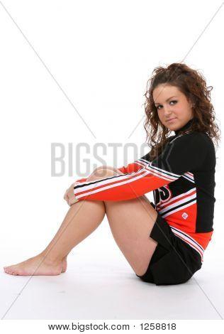 Cheerleader Resting