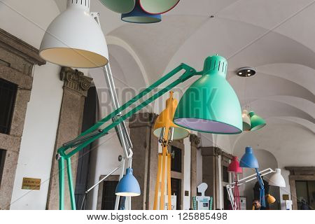 Lamps On Display At Fuorisalone 2016 In Milan, Italy