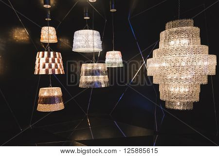 Chandeliers On Display At Fuorisalone 2016 In Milan, Italy