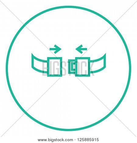 Seat belt line icon.