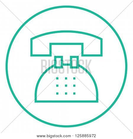 Telephone line icon.