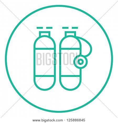 Oxygen tank line icon.