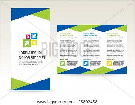 business brochure folder triangles design cmyk color