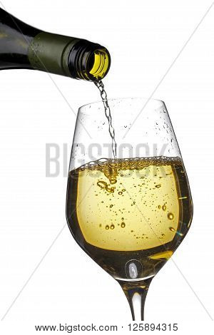Close Up Shot Of Wine Bottle And Wine Glass
