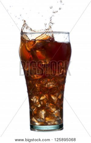 Cola Splashing Out Of Glass Of Cola