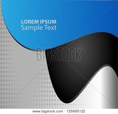 blue paper background overlap dimension vector illustration message board for text and message design modern website