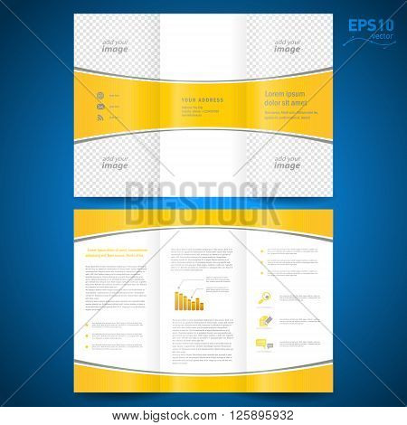 brochure perspective yellow curve bend line white background