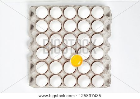 Eggs And Egg Tray As A Background