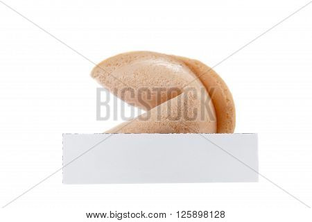 Fortune Cookie With Peace Of White Paper