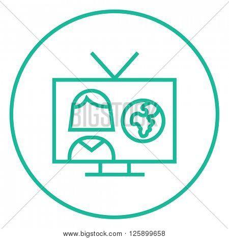 TV report line icon.