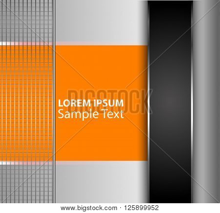 Orange, black background vector overlap dimension 3d graphic color message board for text and message design frame line shadow for modern web design eps10 infographic