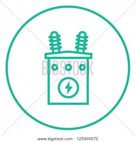 High voltage transformer line icon.