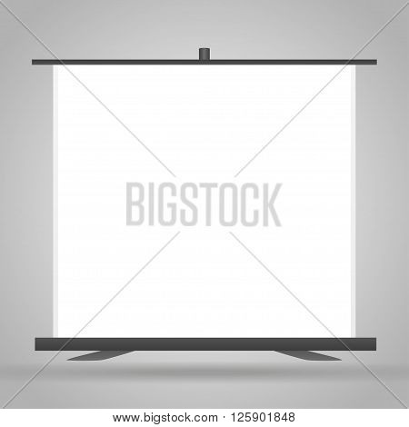Trade exhibition stand Exhibition. Advertising space on a white background with space for text ads vector