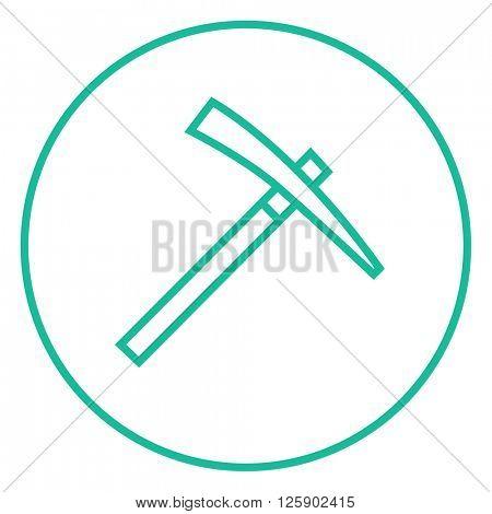 Pickax line icon.