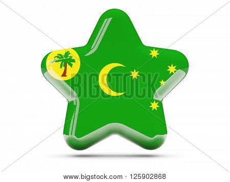 Star Icon With Flag Of Cocos Islands