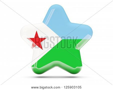 Star Icon With Flag Of Djibouti