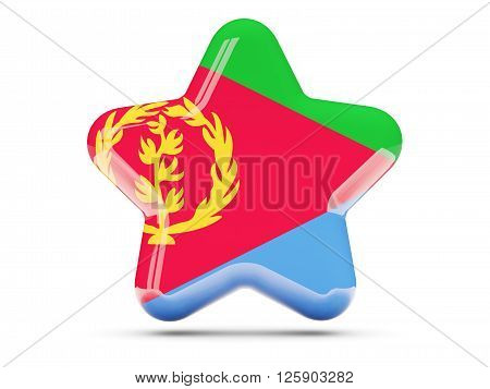 Star Icon With Flag Of Eritrea