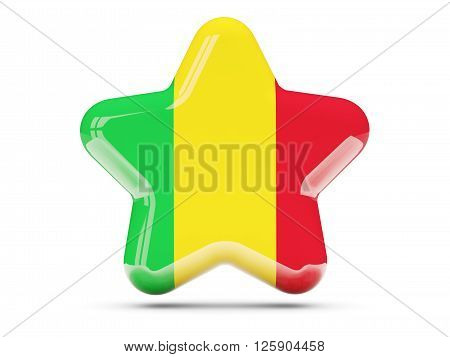 Star Icon With Flag Of Mali