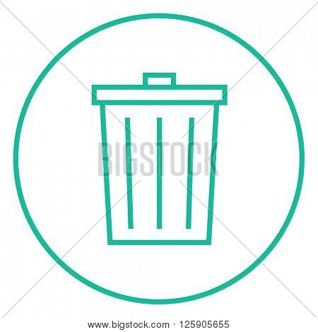 Trash can line icon.