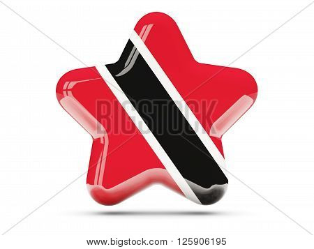 Star Icon With Flag Of Trinidad And Tobago