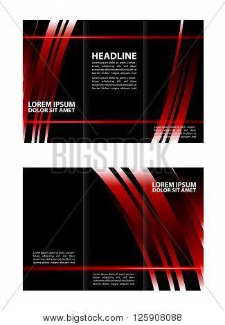 Vector modern tri-fold brochure design template. Vector modern tri-fold brochure design template