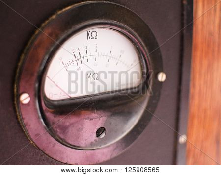 The old meter resistance and conducibility blurred
