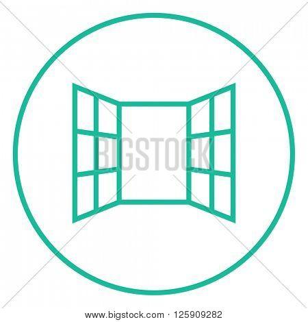 Open windows line icon.