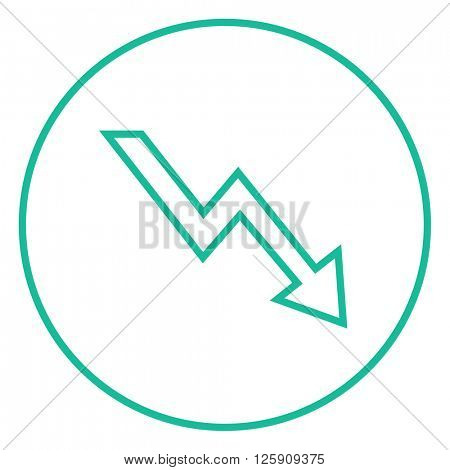 Arrow downward line icon.