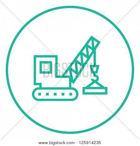 Lifting crane line icon.